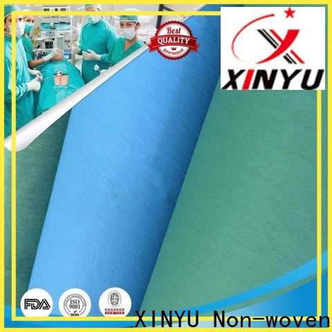XINYU Non-woven non woven fabric uses factory for non-medical isolation gown