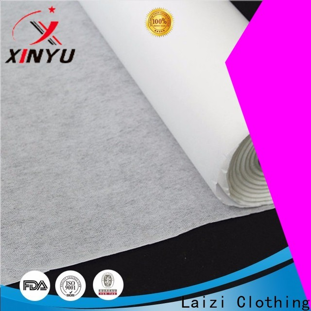 Excellent non woven fabric interlining Supply for embroidery paper