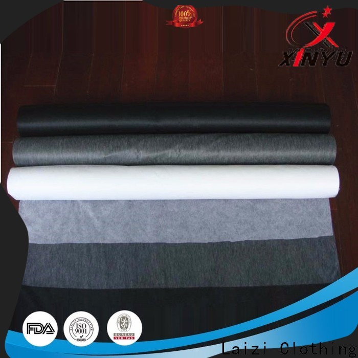 XINYU Non-woven Reliable fusible nonwoven interlining manufacturers for collars