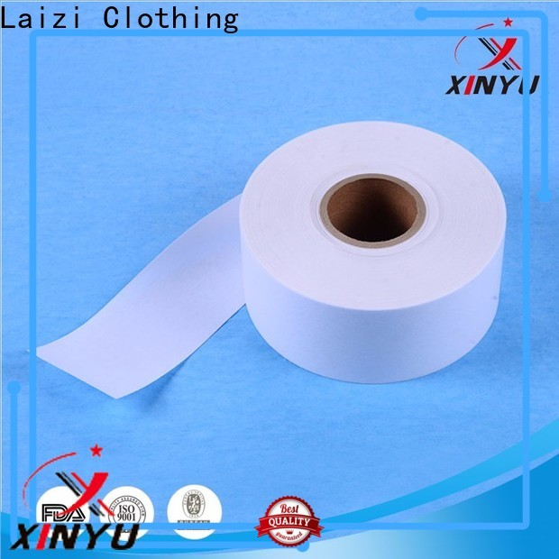 XINYU Non-woven High-quality fusible interlining fabric manufacturers for collars