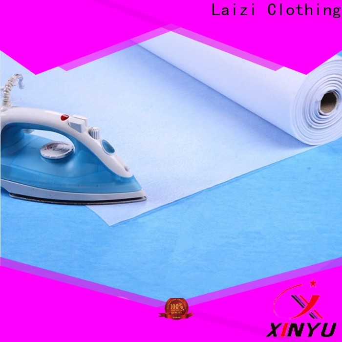XINYU Non-woven non woven fusible interlining factory for cuff interlining