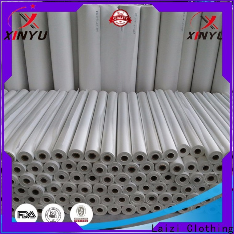 XINYU Non-woven non woven fabric interlining manufacturers for collars